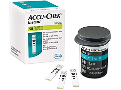 Accu Chek Instant-Hộp  50 Que-Que Thử Đường Huyết