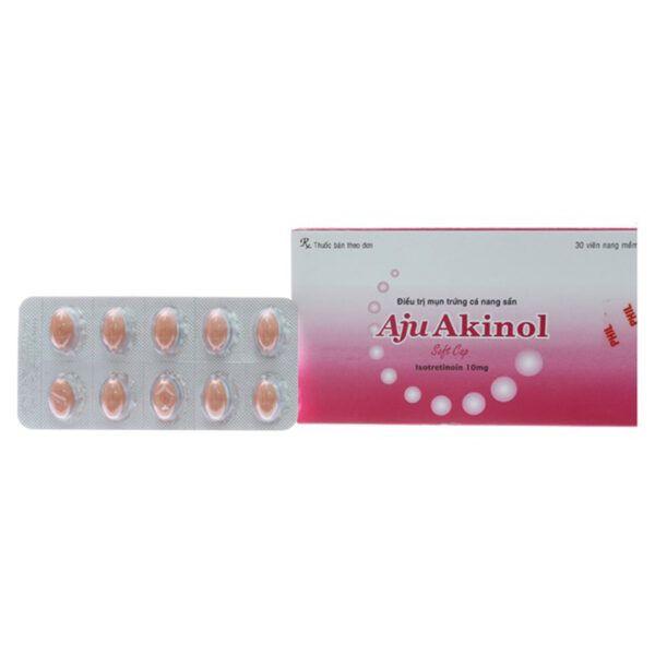 Aju Akinol hộp 30 viên - Điều trị mụn trứng cá nang sần nặng
