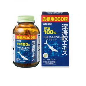 Dầu Gan Cá Mập Orihiro Lọ 360 Viên - Hỗ Trợ Sức Khỏe Tim Mạch, Giảm Viêm Đau