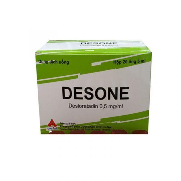 Dung Dịch Uống Desone - Hộp 20 Ống - Làm Giảm Dị Ứng