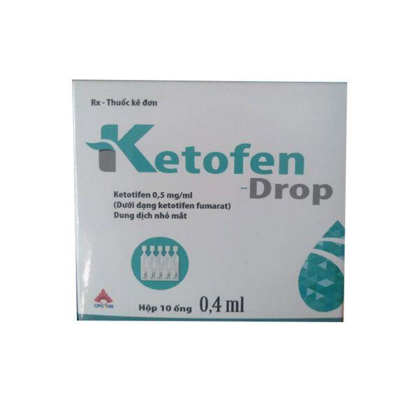 Thuốc Ketofen Drop-Hộp 10 Ống-Điều Trị Viêm Mũi Dị Ứng