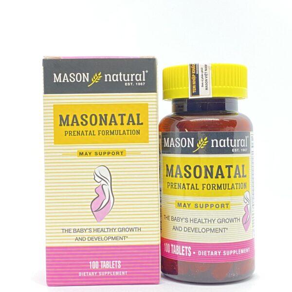 Masonatal Prenatal Formualation Hộp 100 Viên – Dưỡng Chất Cho Bà Bầu