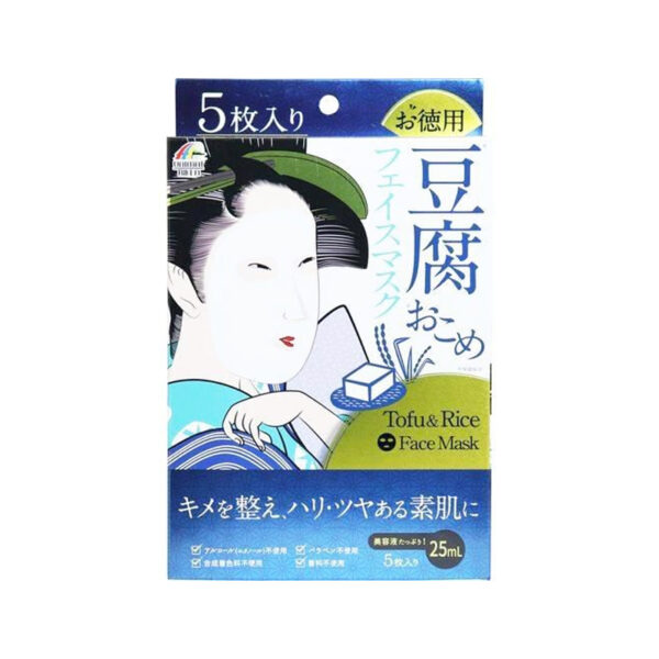 Mặt Nạ Đậu Phụ Và Cám Gạo Tofu&Rice Face Mask Hộp 5 Miếng