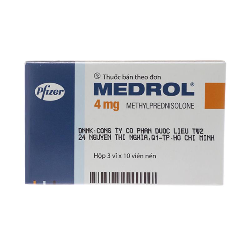 Medrol 4mg hộp 30 viên