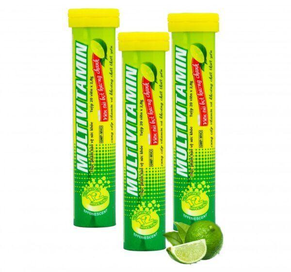 Multivitamin OPC hương chanh Tuýp 20 viên - Tăng sức đề kháng