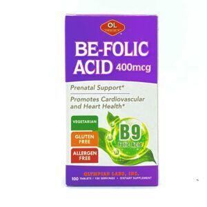 Be Folic Acid Lọ 100 Viên - Bổ Sung Acid Folic Cho Bà Bầu