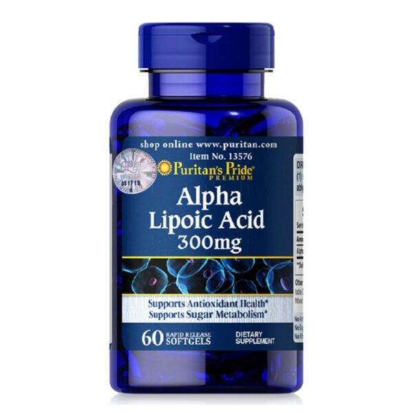 Alpha Lipoic Acid 300mg Lọ 60 Viên - Hỗ Trợ Chuyển Hóa Đường