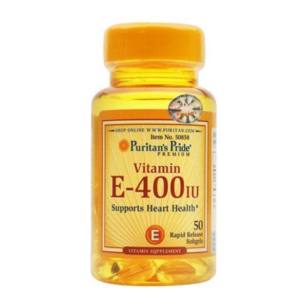 Viên Uống Puritan's Pride Vitamin E 400 IU Lọ 50 Viên - Bổ Sung Vitamin E