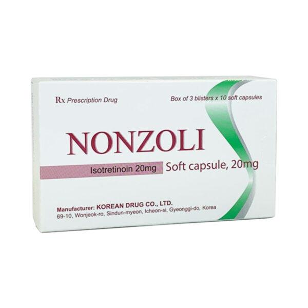 Nonzoli 20mg Hộp 30 Viên - Điều TrịMụn Trứng Cá Hiệu Quả