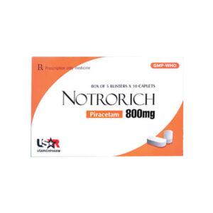 Thuốc Notrorich Piracetam 800mg-Tăng Cường Tuần Hoàn Não