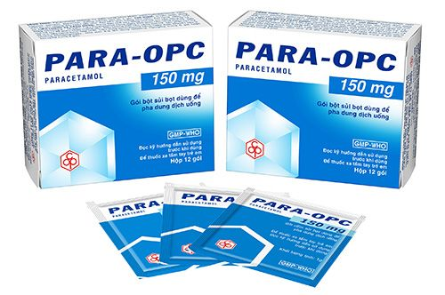 Para OPC 150mg Hộp 12 gói - Giảm đau nhẹ đến vừa, hạ sốt
