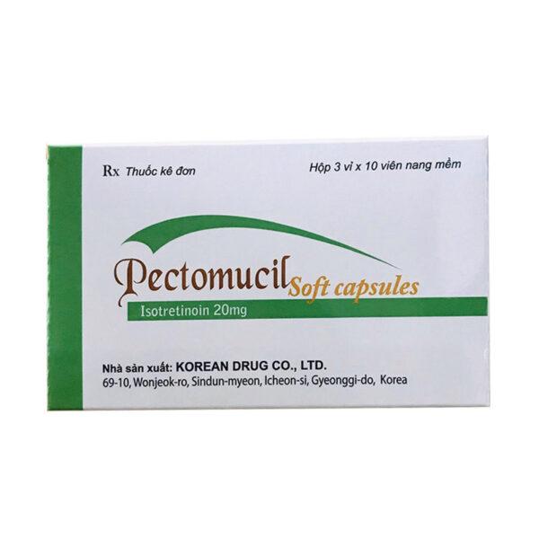 Thuốc Pectomucil Hộp 30 Viên - Điều Trị Và Ngừa Mụn Trứng Cá
