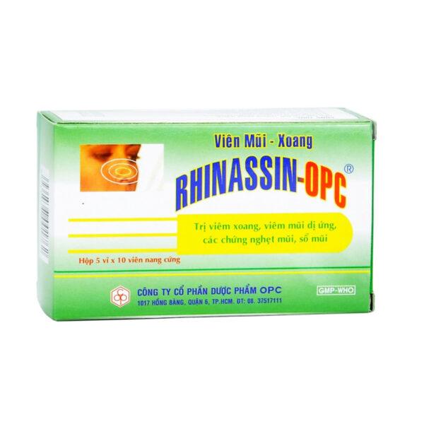Rhinassin OPC Hộp 50 Viên - Điều Trị Viêm Mũi, Viêm Xoang