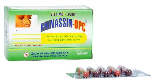 Rhinassin OPC Hộp 50 viên - Điều trị viêm mũi viêm xoang