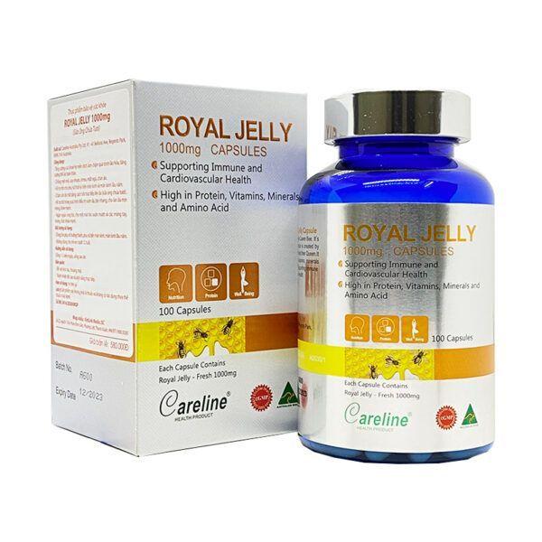 Royal Jelly Careline Hộp 100 Viên - Tăng Cường Hệ Miễn Dịch