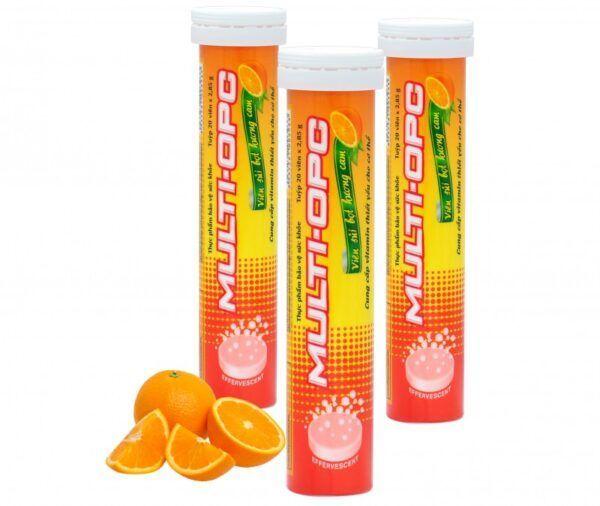 Multivitamin OPC - Bổ sung Vitamin và khoáng chất hương cam - Tuýp 20 viên
