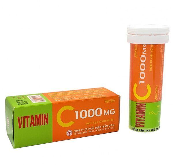 Vitamin C 1000mg Tuýp 10 viên - Bổ sung Vitamin cho cơ thể