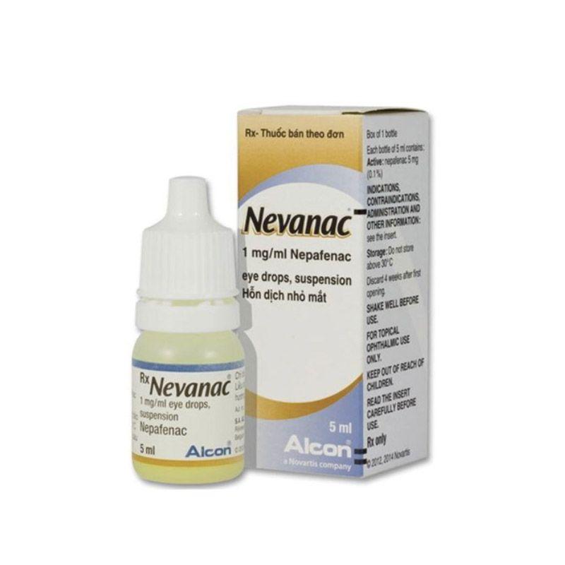 Thuốc nhỏ mắt Nevanac 0.1% lọ 5ml
