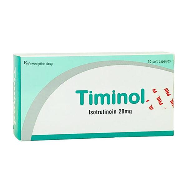 Timinol 20mg Hộp 30 viên - Điều trị mụn trứng cá hiệu quả