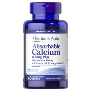 Absorbable Calcium 600mg Plus Lọ 60 Viên - Hỗ Trợ Cải Thiện Sức Khỏe Xương Khớp
