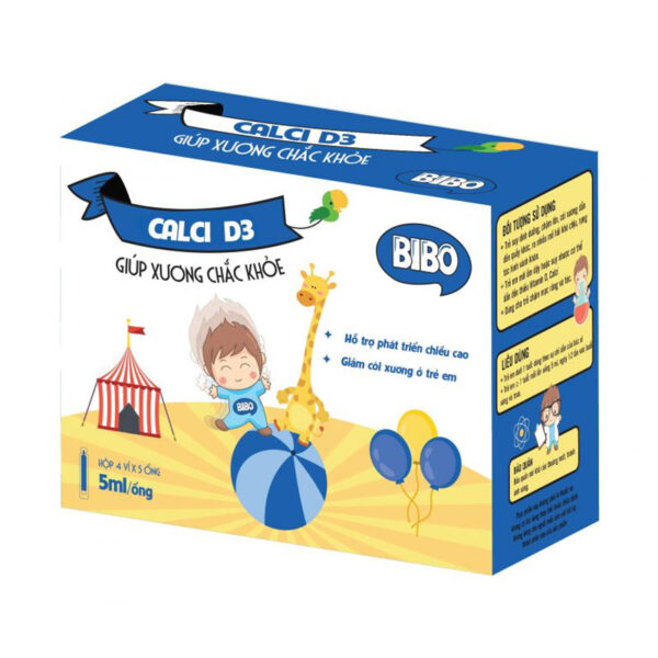 Bibo Canxi D3 Hộp 20 Ống - Giảm Còi Xương Ở Trẻ Em