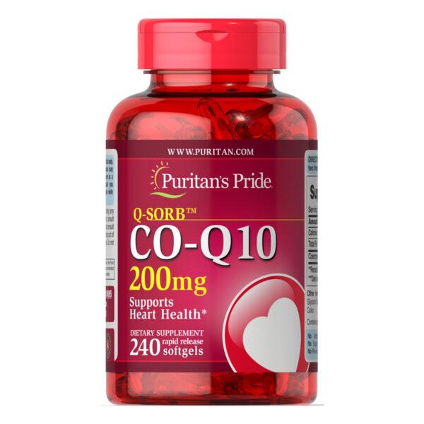 Q-SORB™ Co Q-10 200mg Lọ 240 Viên - Hỗ Trợ Sức Khỏe Tim Mạch