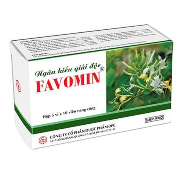Ngân Kiều giải độc Favomin Hộp 50 viên - Thanh nhiệt giải độc