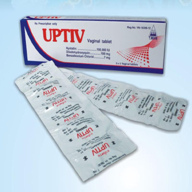 Uptiv Vaginal table hộp 10 viên