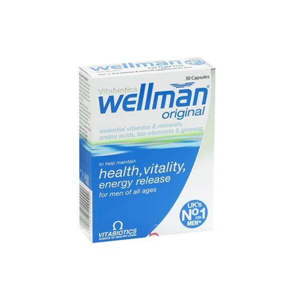 Vitabiotics Wellman Hộp 30 viên - Bổ sung vitamin, khoáng chất cho phái mạnh