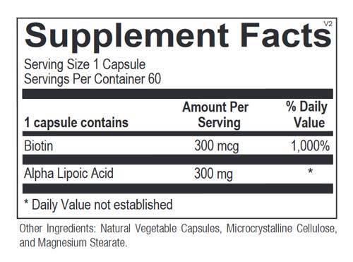 Alpha Lipoic Acid 300mg Lọ 60 Viên - Thành Phần