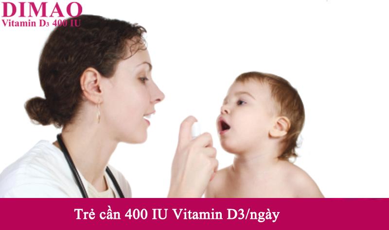 Vitamin D3 400IU - Chuẩn liều