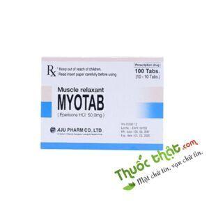 Myotab 50mg Hộp 100 viên - Điều trị các bệnh liệt cứng