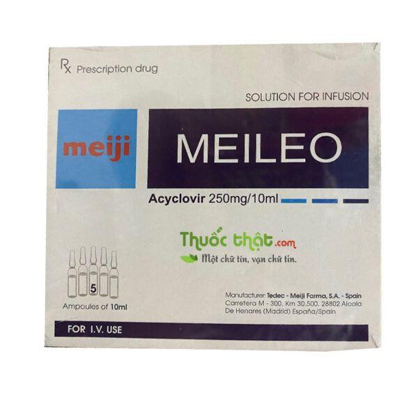 Meileo Hộp 5 ống - Điều trị nhiễm trùng do virus Herpes Simplex