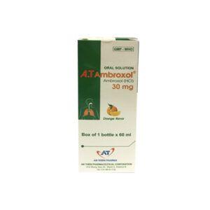 A.T Ambroxol 30mg/5ml Chai 60ml - Điều Trị Bệnh Đường Hô Hấp