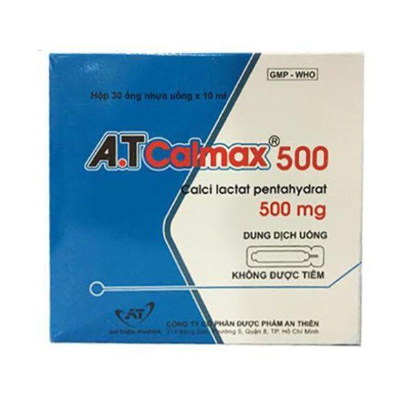 A.T Calmax 500mg Hộp 30 Ống - Bổ Sung Calci Cho Cơ Thể