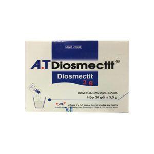 A.T Diosmectit 3000mg Hộp 30 Gói - Điều Trị Triệu Chứng Đau Dạ Dày