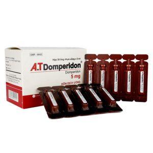 A.T Domperidon 5mg Hộp 30 Ống - Điều Trị Đầy Bụng, Ăn Không Tiêu