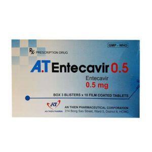 A.T Entecavir 0.5 Hộp 30 Viên - Điều Trị Viêm Gan B