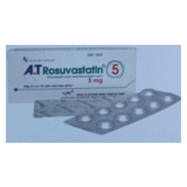 A.T Rosuvastatin 5 Hộp 30 Viên - Điều Trị Tăng Choresterol Máu