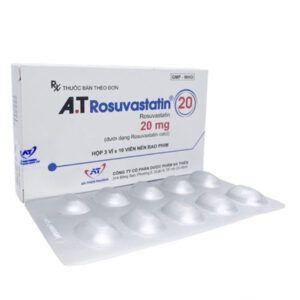 A.T Rosuvastatin 20mg Hộp 30 Viên - Điều Trị Tăng Choresterol Máu
