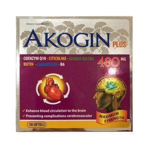 Akogin Plus Hộp 100 Viên - Bổ Sung Dưỡng Chất Cho Não