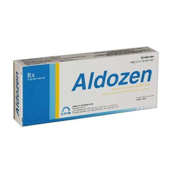 Aldozen Hộp 30 Viên - Kháng Viêm, Giảm Phù Nề