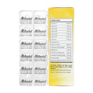 Allvitamine Hộp 60 viên - Bổ sung Vitamin cần thiết cho cơ thể
