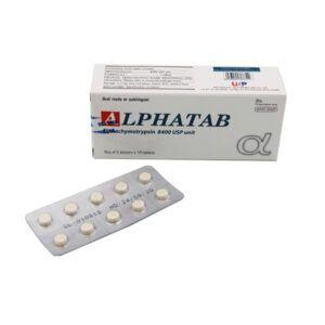 Alphatab Hộp 50 viên - Điều trị phù nề sau sau mổ