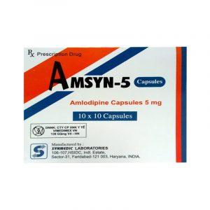 Amsyn 5 Hộp 100 viên - Thuốc điều trị tăng huyết áp