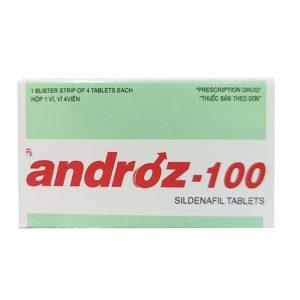 Androz 100mg Hộp 4 viên - Điều trị cường dương