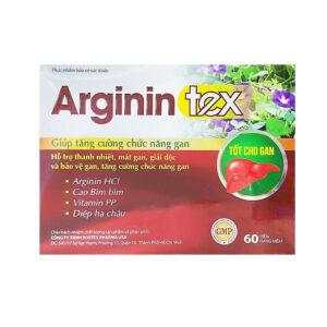 Arginin Tex Hộp 60 viên - Tăng cường chức năng gan