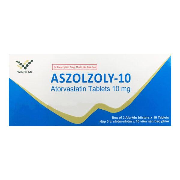 Aszolzoly 10 Hộp 30 Viên - Điều Trị Tăng Cholesterol Máu