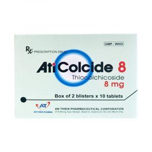 Thuốc AtiColcide 8 - Hộp 20 Viên - Điều Trị Đau Do Cơn Co Thắt