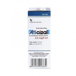 Aticizal 2,5mg/5ml Chai 150ml - Điều Trị Viêm Mũi Dị Ứng